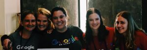 GirlCon Chicago Check-in-with-Hadley-and-Jorie-Google-Employees-